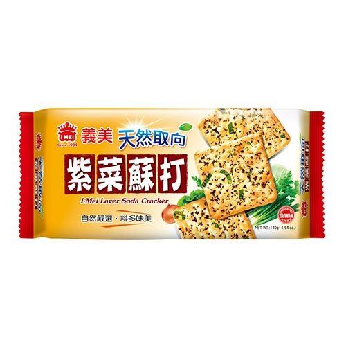 義美天然取向蘇打餅乾(紫菜)140g【愛買】