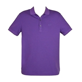 【南紡購物中心】HUGO BOSS 經典標誌配色男款POLO衫-葡萄紫