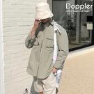 工裝襯衫 韓國防風防潑口袋長袖襯衫 罩衫【PA88157】現貨+預購 Doppler