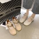 豆豆鞋 單鞋女春夏季新款溫柔仙女風平底百搭瑪麗珍小皮鞋懶人豆豆鞋 阿薩布魯