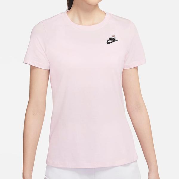 Nike Sportswear 女裝 短袖 休閒 純棉 卡通圖樣 雲朵 晴天 粉【運動世界】DJ6296-621