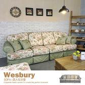 布沙發 SOFA 沙發 L型沙發 四人位+腳椅 美式鄉村經典【WB4】品歐家具