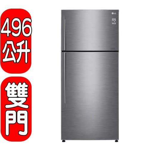 《23300》LG樂金【GN-BL497SV】496公升變頻雙門冰箱