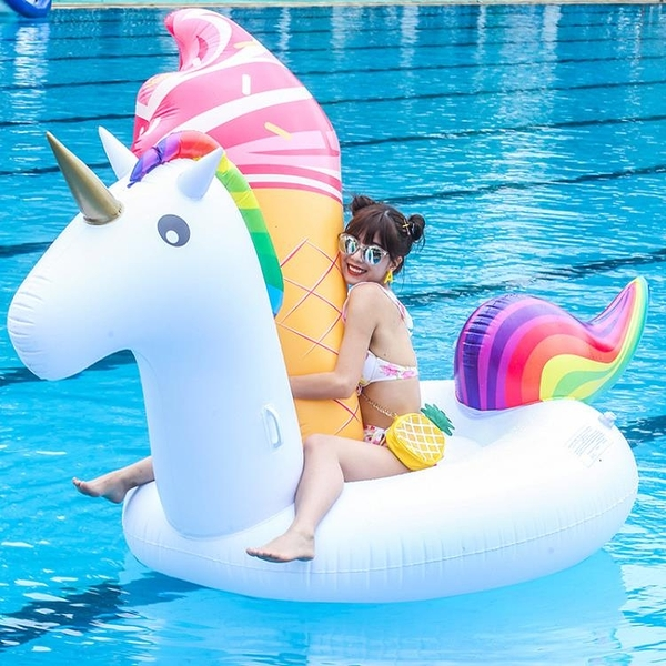 水上動物坐騎獨角獸坐騎PVC火烈鳥成人游泳圈天鵝游泳圈充氣浮排【618優惠】