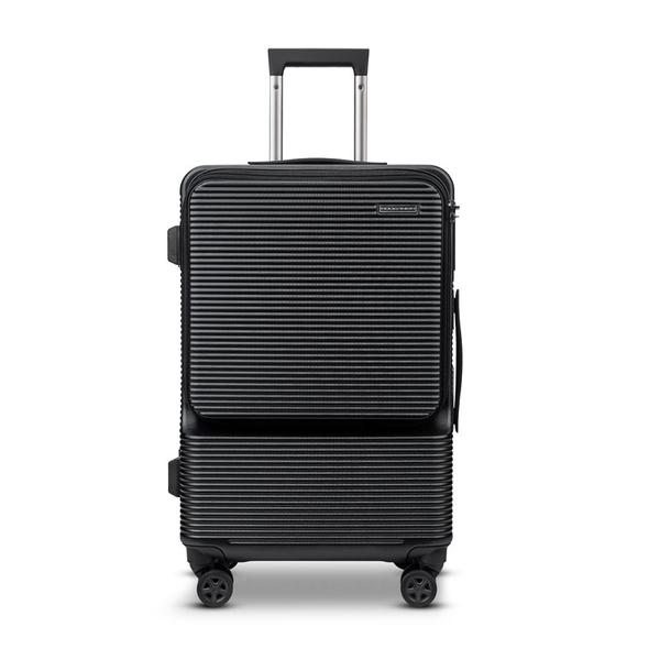 MOM JAPAN日本品牌 19吋 MODERNISM輕量多功能電腦商務旅行箱/登機箱-黑