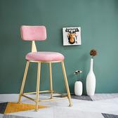 現代簡約臥室公主少女心梳妝台凳子北歐靠背網紅化妝椅歐式美甲椅 NMS名購居家