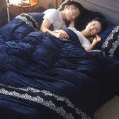 珊瑚絨四件套加厚法蘭絨1.8m床上用品法萊絨被套床包宿舍三件套