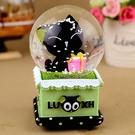 水晶球音樂盒創意生日禮物送女生閨蜜兒童小...