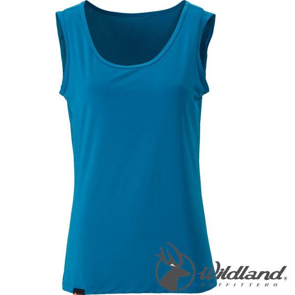 Wildland荒野 W1683-46土耳其藍 女透氣排汗背心內衣