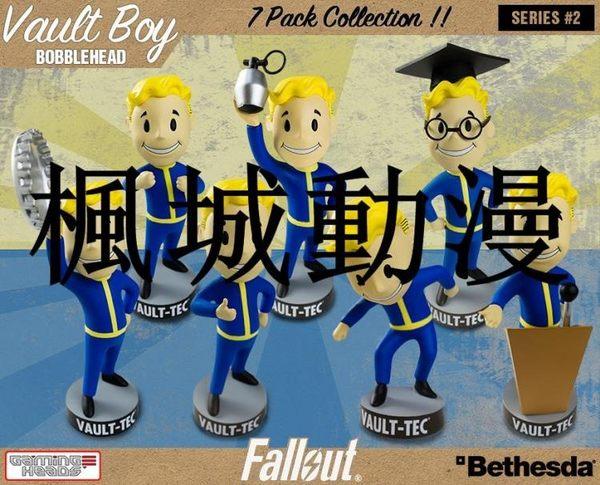 楓城動漫Fallout輻射4VaultBoy1代輻射小子7款搖頭公仔手辦