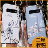 三星Note10+手機殼S10+ S10 S10e S9+ S9 軟殼J4 A7 2018防摔軟殼 水鑽邊框S8+ S8 保護殼