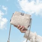 錬條包 夏天的小包包2020新款潮斜背包女夏季小包百搭ins時尚錬條小方包 愛麗絲