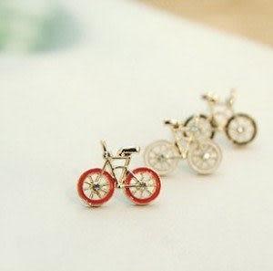 單車戀人耳釘 自行車