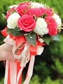 仿真中式玫瑰鮮花結婚手捧花