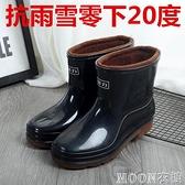 男士雨靴 回力雨鞋男士棉短筒雨靴男女中筒防滑防水靴膠鞋套 母親節特惠