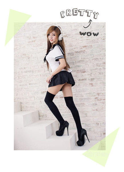 XL/3L號水手服cosplay服裝~情趣學生服水手制服 角色扮演服裝 性感表演服情人節禮物~流行E線A7038