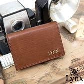 Lynx  80 復古風真皮系列簡約式名片夾復古咖