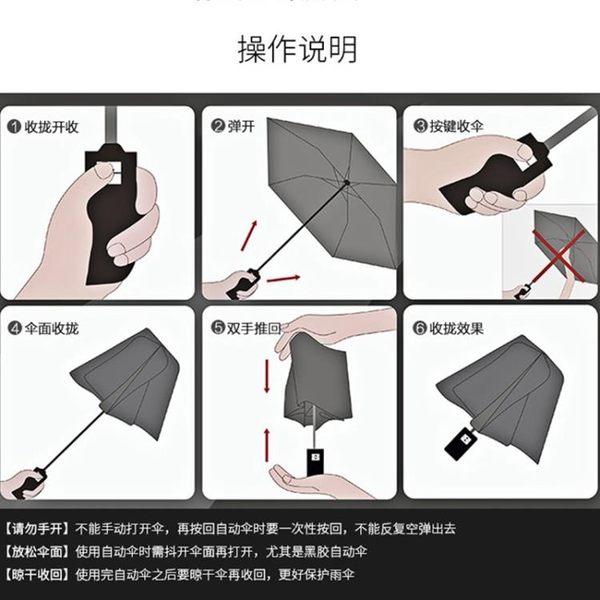全自動雨傘女正韓小清新晴雨兩用折疊遮陽防曬防紫外線黑膠太陽傘
