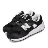New Balance 慢跑鞋 NB 580 寬楦 黑 白 女鞋 大童鞋 中童鞋 運動鞋 【PUMP306】 YV580EBKW