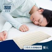 【airweave 愛維福】雙人_6.5公分 S-LINE三段式支撐機能薄墊 (100%日本製 可水洗 支撐力佳 分散體壓)