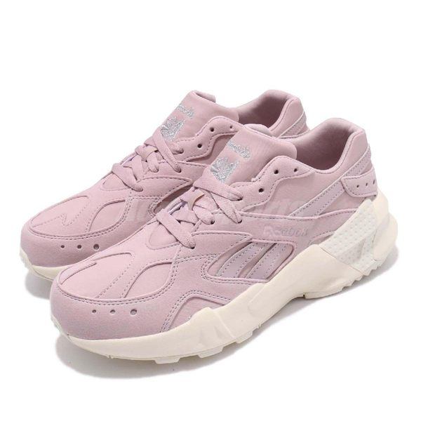 Reebok 復古慢跑鞋 AZTREK Double 93 粉紅 米白 麂皮鞋面 老爹鞋 運動鞋 女鞋【PUMP306】 DV6309