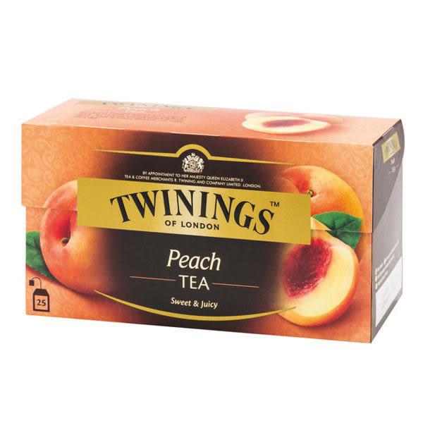 英國《TWININGS 唐寧》茶香甜蜜桃茶包(小茶包) 2*25入/盒