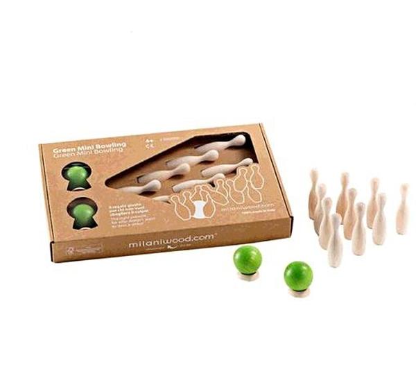 [COSCO代購] W130602 迷你保齡球 Milaniwood Green Mini Bowling