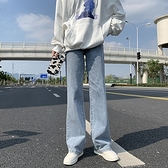 直筒牛仔褲 顯瘦01001#高腰直筒牛仔褲女新款垂感寬松顯瘦拖地小個子闊腿褲1F157 依品國際