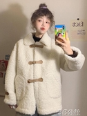 鋪棉外套 秋裝韓版新款寬松慵懶風娃娃領設計感長袖仿羊羔毛長袖棉服女 3C公社