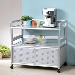 Homelike 鋁合金3尺二門收納櫃