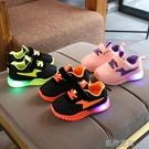 快速出貨 寶寶發光鞋透氣雙網兒童鞋子1-2-3-4-5歲男童鞋亮燈女童新款