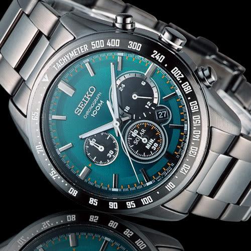SEIKO Criteria 極速狂風太陽能計時腕錶 V175-0DK0L SSC475P1
