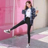 韓版秋韓版薄款黑色打底褲女外穿長褲大碼彈力小腳褲鉛筆褲6128ZL6F-603朵維思