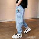 男童兒童夏季冰絲牛仔防蚊褲2021年新款薄款夏裝褲子寬鬆夏天潮夏 一米陽光