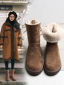 雪地靴 雪地靴女中筒冬季加絨保暖松糕厚底新款百搭韓版加厚棉鞋靴子 維科特3C