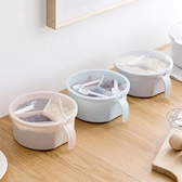 圓形多格調味罐廚房用品調料瓶家用創意帶蓋調料盒調料罐佐料鹽罐