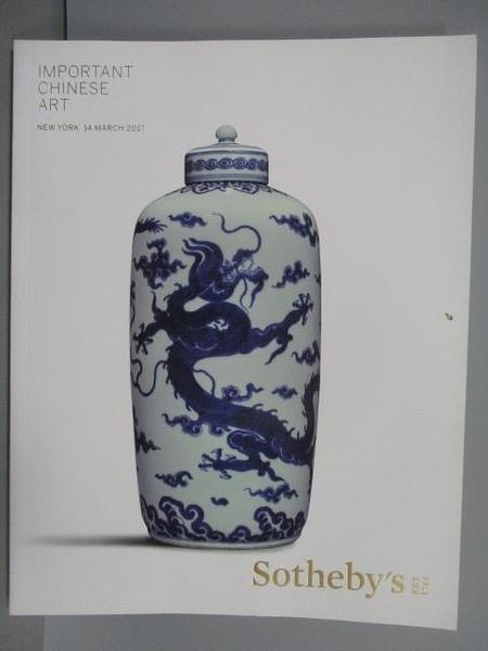【書寶二手書T3/收藏_PLL】Sotheby s_Important Chinese Art_2017/3/14