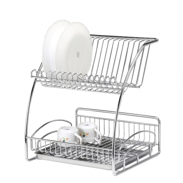【HOME WORKING】廚房雙層碗盤架
