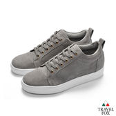 TRAVEL FOX(男)  牛反毛皮休閒鞋-灰