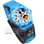 Disney 迪士尼 時尚卡通錶 Disney 米奇 米老鼠 帆布休閒 造型錶 女錶 男錶 藍色 D7-1049M帆