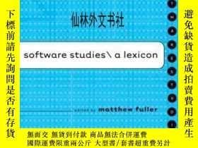 二手書博民逛書店【罕見】2008年 Software Studies: A Le