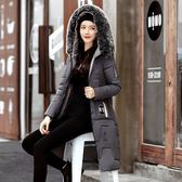 羽絨外套-連帽中長款修身加厚毛領女夾克6色73pa11[巴黎精品]