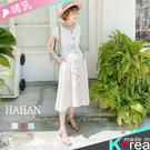 【HC5178】開釦V領 棉麻哺乳洋裝