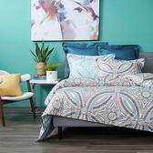 HOLA 蔓蘿純棉床包枕套三件組特大