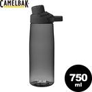 【CamelBak 美國 750ml 戶外運動水瓶《炭黑》】CB1512001075/水壺/運動水壺/自行車水瓶