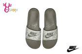 NIKE Benassi JDI Print 拖鞋 男款 圖騰 運動拖鞋 O7198#灰綠◆OSOME奧森童鞋