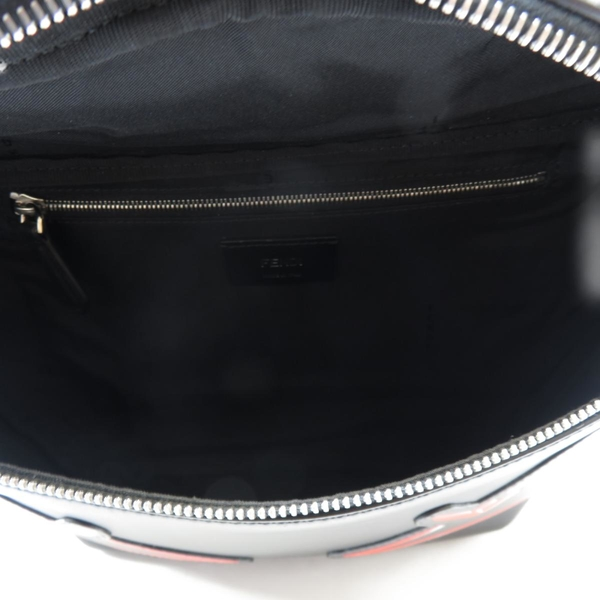 FENDI 黑色牛皮腰包胸口包 Monster Belt Waist Bag 7VA434【二手名牌 BRAND OFF】