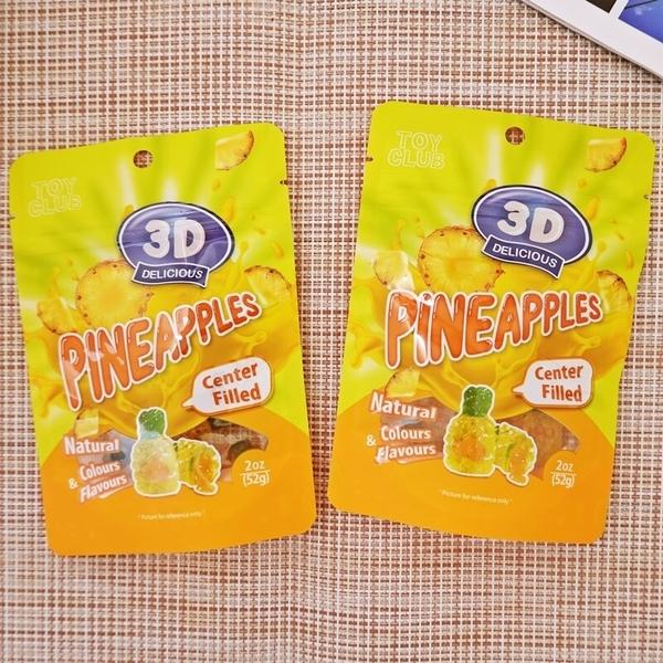 Toy Club 3D鳳梨爆漿軟糖 52g (馬來西亞糖果)