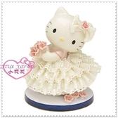 小花花日本精品♥ Hello Kitty 日製 陶瓷娃娃 療癒小物擺飾收藏 洋裝 絕版收藏11408901
