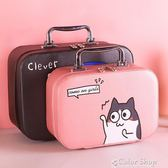 化妝包小號便攜韓國簡約可愛少女心收納方袋手提品箱大容量多功能color shop